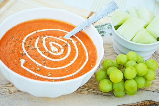 Roasted Red Pepper and Jalapeno Cream Soup