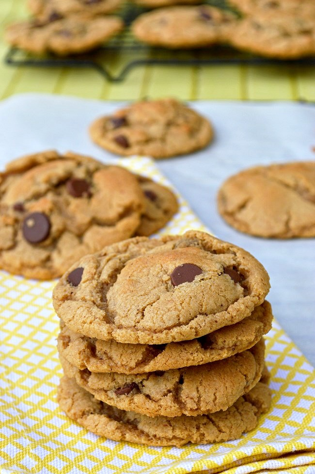 Gluten Free Browned Butter Chocolate Chip Cookies made with browned ...