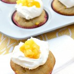 These Gluten Free Pina Colada Banana Muffins with Cool Whip topping are a hybrid between a muffin and a cupcake. They have a sweet pineapple flavor with a coconut undertone. Top with Cool Whip for a little indulgence.