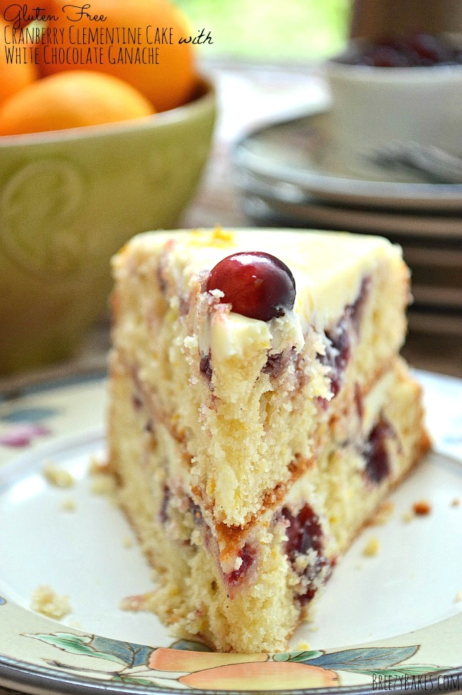 make the most amazing christmas dessert with this gluten free cranberry clementine cake with white chocolate