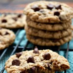 Take a trip back to your childhood with these chewy Gluten Free Oatmeal Chocolate Chip Toffee Cookies. They're just like grandma used to make!