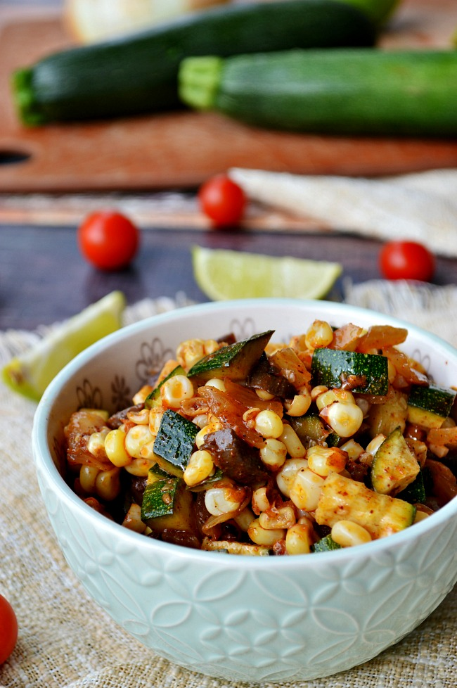 Southwest Sweet Corn and Zucchini Saute - Breezy Bakes